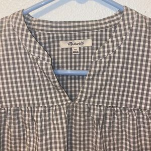 Madewell plaid blouse xs